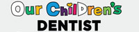 Our children's dentist logo on a gray background